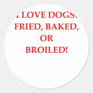 Adesivo Redondo aborrecedor do cão