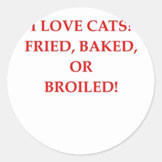 Adesivo Redondo aborrecedor do gato