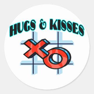 Adesivo Redondo Abraços e beijos XO