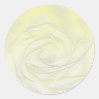 Adesivo Redondo Abstrato do rosa amarelo