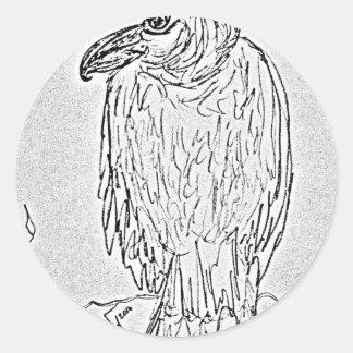 Adesivo Redondo abutre