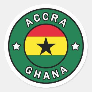 Adesivo Redondo Accra Ghana