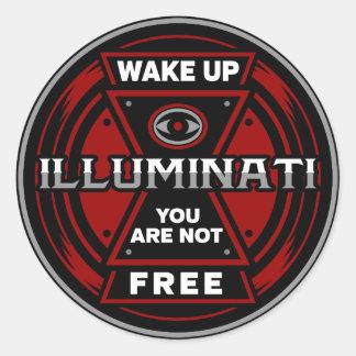 Adesivo Redondo Acorde-o não são Illuminati livre