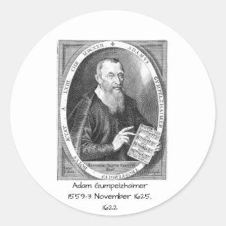 Adesivo Redondo Adam Gumpelzhaimer