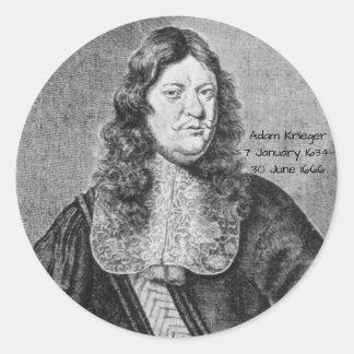 Adesivo Redondo Adam Krieger