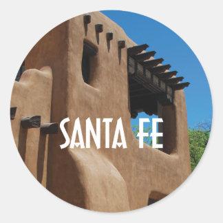 Adesivo Redondo Adôbe de Santa Fé New mexico