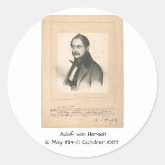 Adesivo Redondo Adolf von Henselt