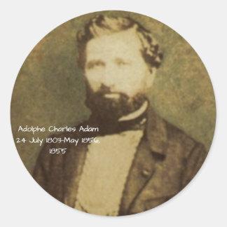 Adesivo Redondo Adolfo Charles Adam, 1855
