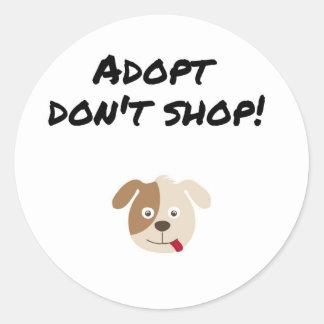 Adesivo Redondo Adopt não compra
