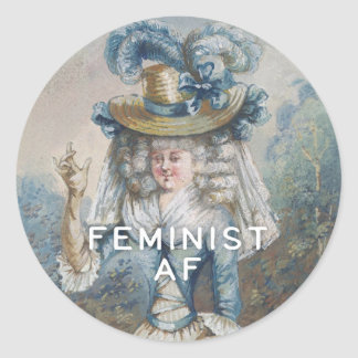 Adesivo Redondo AF feminista