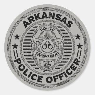 Adesivo Redondo Agente da polícia de Arkansas