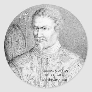 Adesivo Redondo Agostino Steffani