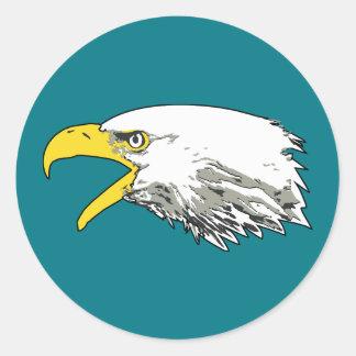 Adesivo Redondo Águia americana americana