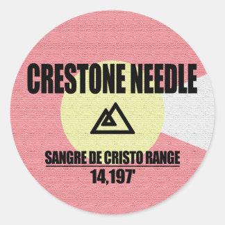 Adesivo Redondo Agulha de Crestone