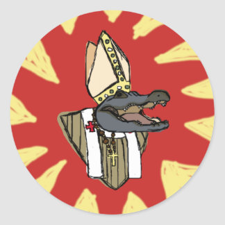 Adesivo Redondo Al G. para o papa