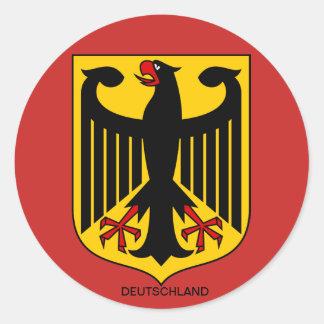 Adesivo Redondo Alemanha brasão de autocolantes Grandes