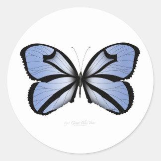 Adesivo Redondo Aleta azul gigante da borboleta 5 azuis