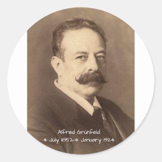 Adesivo Redondo Alfred Grunfeld