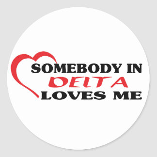 Adesivo Redondo Alguém no delta ama-me
