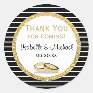 Adesivo Redondo Aliança de casamento e obrigado do brilho você