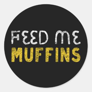 Adesivo Redondo Alimente-me muffin