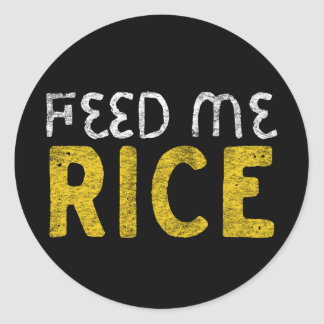 Adesivo Redondo Alimente-me o arroz