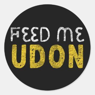 Adesivo Redondo Alimente-me o udon