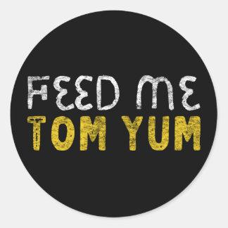 Adesivo Redondo Alimente-me tom yum
