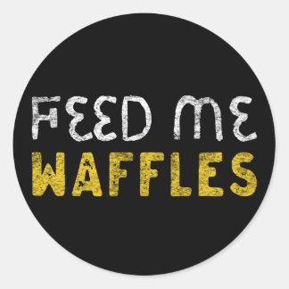 Adesivo Redondo Alimente-me waffles