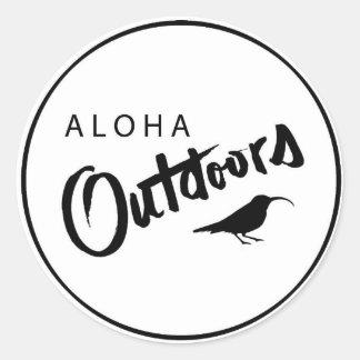 Adesivo Redondo aloha fora