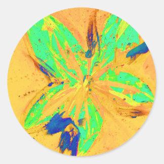 Adesivo Redondo Amarelo ácido da lavagem de Santa Fé