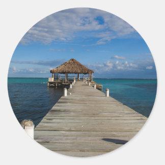 Adesivo Redondo Ambergris Caye Belize