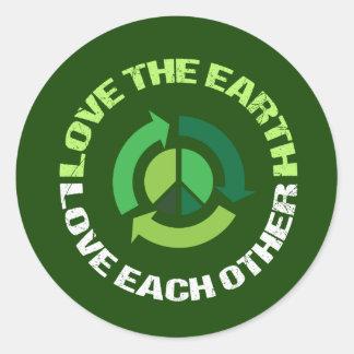 Adesivo Redondo Ame o amor da terra