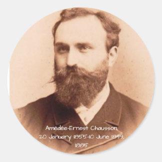 Adesivo Redondo Amedee-Ernest Chausson