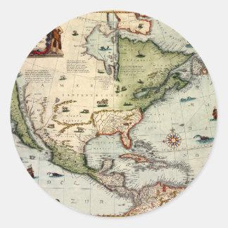 Adesivo Redondo América 1610