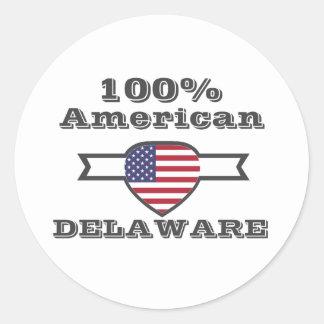 Adesivo Redondo Americano de 100%, Delaware