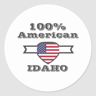 Adesivo Redondo Americano de 100%, Idaho