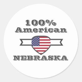 Adesivo Redondo Americano de 100%, Nebraska