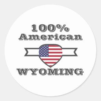 Adesivo Redondo Americano de 100%, Wyoming