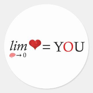 Adesivo Redondo Amor da matemática