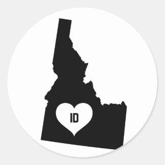 Adesivo Redondo Amor de Idaho