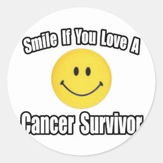 Adesivo Redondo Amor do sorriso… um sobrevivente de câncer