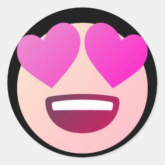 Adesivo Redondo Amor Emoji