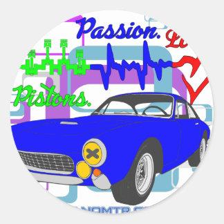 Adesivo Redondo amor F250Lusso da paixão dos pistões