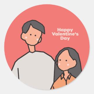 Adesivo Redondo Amor (feliz dia dos namorados)