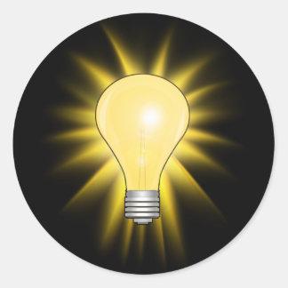 Adesivo Redondo Ampola da ideia brilhante