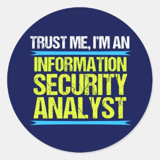 Adesivo Redondo Analista de segurança da informação legal