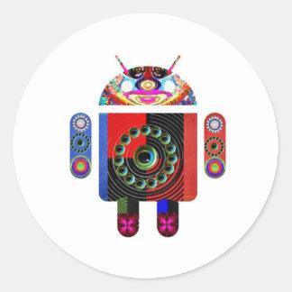 Adesivo Redondo Android estrangeiro - Art101 por Navin
