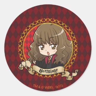 Adesivo Redondo Anime Hermione Granger