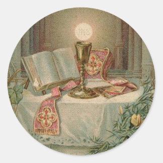 Adesivo Redondo Aniversário da classificação do padre